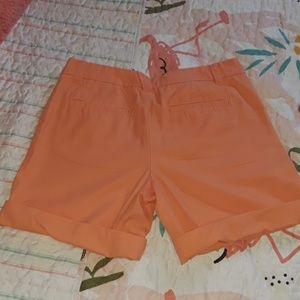 GAP Shorts - Boyfriend roll up melon colored shorts sz 4